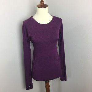 Lululemon violet long sleeve swiftly tech sz8
